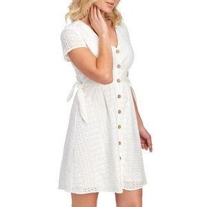 NWT June & Hudson Eyelet Button-Front Dress